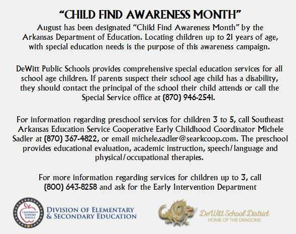 Child Find Awareness Month