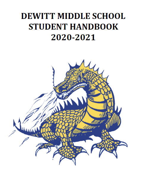 cover of middle school handbook